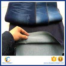 Satin stretch denim fabric