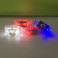 2018 Promotional OEM Logo Led Happy Bracelet for Party