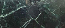 polished green marble slab