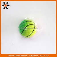 Fluorescent color basketball in solid rubber material for dog toy, bouncy ball
