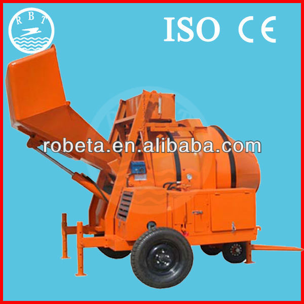 automatic sand cement mixing machine/feeding concrete mixer with low price