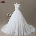SL-102 Gorgeous Wedding Dress Flower Applique Beading Wedding Gown Bridal 2017