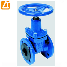 high quality ductile iron gate valve with rubber wedge valves