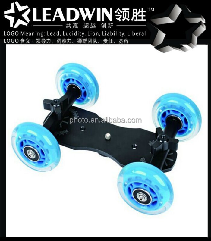 LW-DS04 Skater Dolly Stabilizer Table Top Dolly Video Stabilization Camera dolly