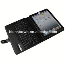 new fashion Bluetooth Keyboard Leather Case For Ipad 2 3 4 slim case for ipad air