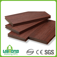 No crack fire resistance modern look exquisite solid wpc decking floor