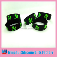 "Custom 1"" debossed in filled Silicon Wristband/wholesale custom bulk silicone band /silicone gift"