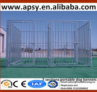 Portable 2 sections 10'x10'x6' welded large animal cages home garden sets pet breeding tools waterproof powder coated dog runs