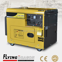 Good news! 15 kva silent alternator generator with four rubber wheels, 12kw mini genset for sale