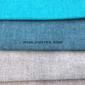 100% polyester linen look fabric with knitting backing 250g for upholstery