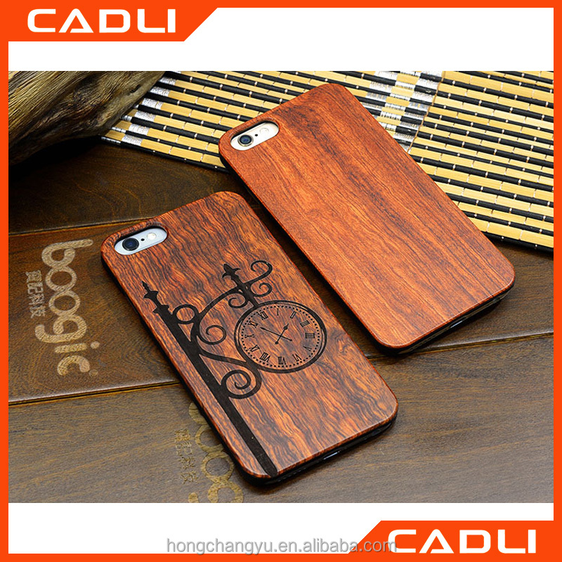 Popular Retro Wood OEM Phone Case for iPhone 5 Natural Carving Design Wood With Durable Plastic Edges Case for iPhone 5S