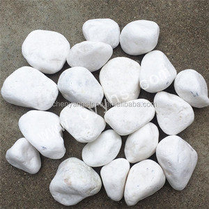 snow white pebble stone and natural river stone for garden