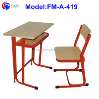 School furniture type high school desk and chair