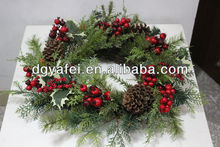 Christmas garland, fruit flowers made wreaths, Festival gifts
