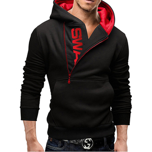 Wholesale Fashion Men XXXXL Hoodies Jackets Man Contrast Color Half Zip Placket Assassins Creed Pullover Supreme Hoodie