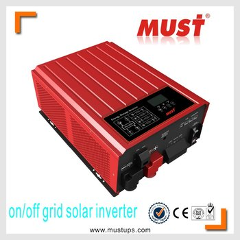 Very popular hybrid on and off grid tie solar inverter home system 3000WATT