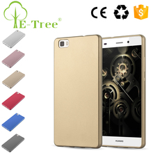 2017 Popular Luxury Gold Cell Phone Protector PU TPU Back Cover For HUAWEI P8 Lite Wholesale