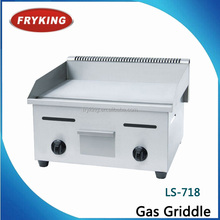 industrial quality heavy duty table top gas griddle/grill