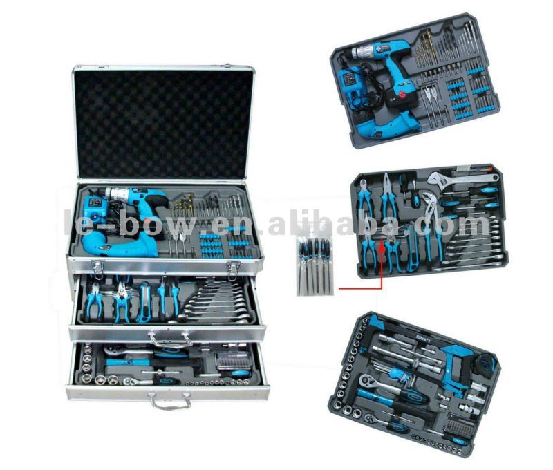 Kraft 206pcs professional tool set with tool case