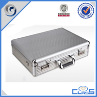 customed silver hand carrying aluminum box tools box tools case laptop case