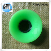 Hot promotional polyurethane skate wheel 65x51mm for single skip PP plastic skateboard