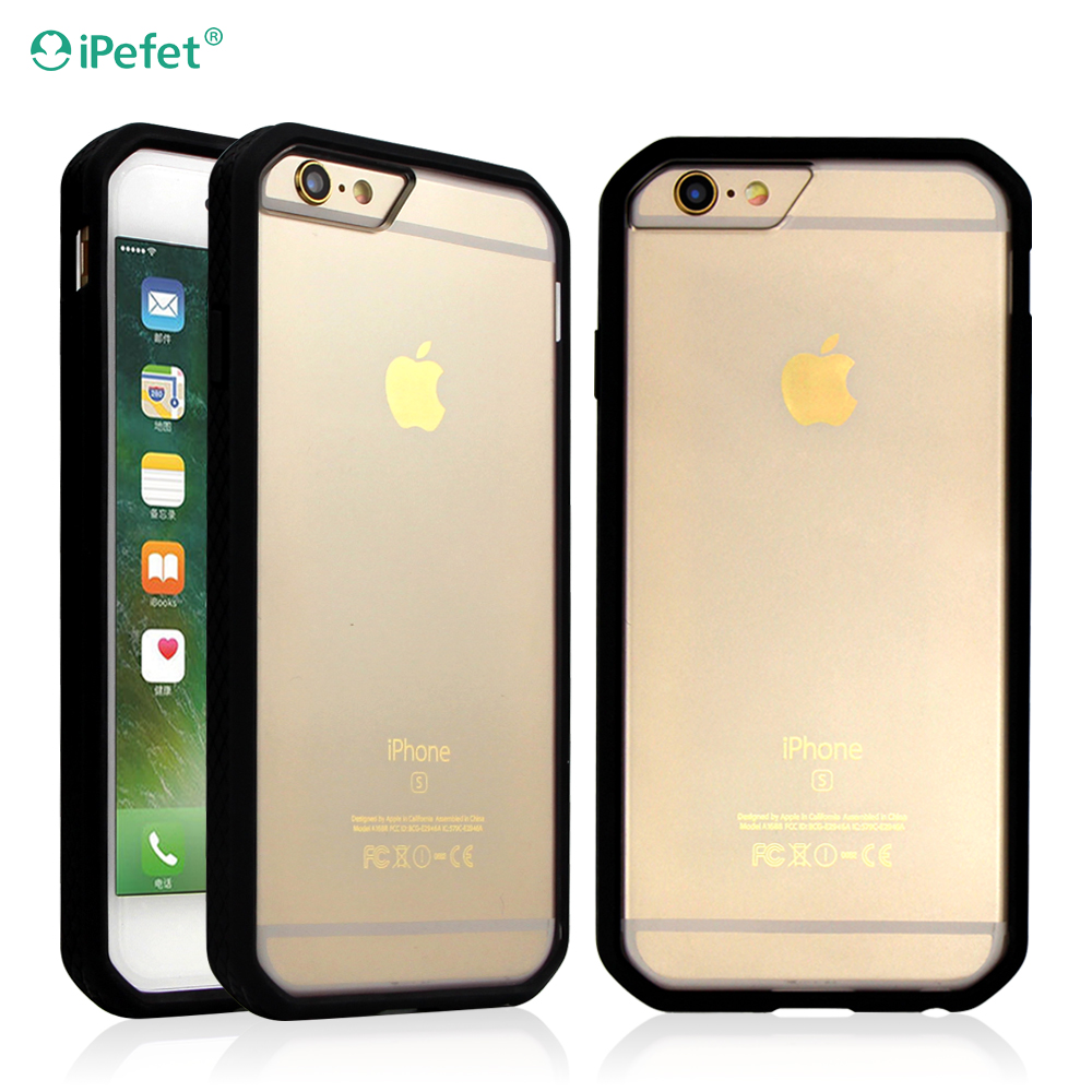 Premium Hybrid scratch resistant clear bumper case blank sublimation case for iPhone 7