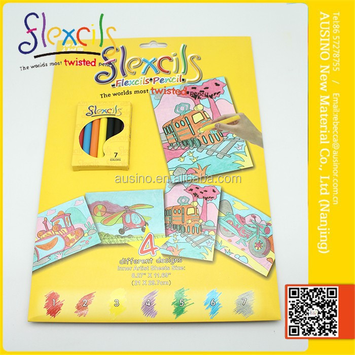 Flexcils DIY coloring book