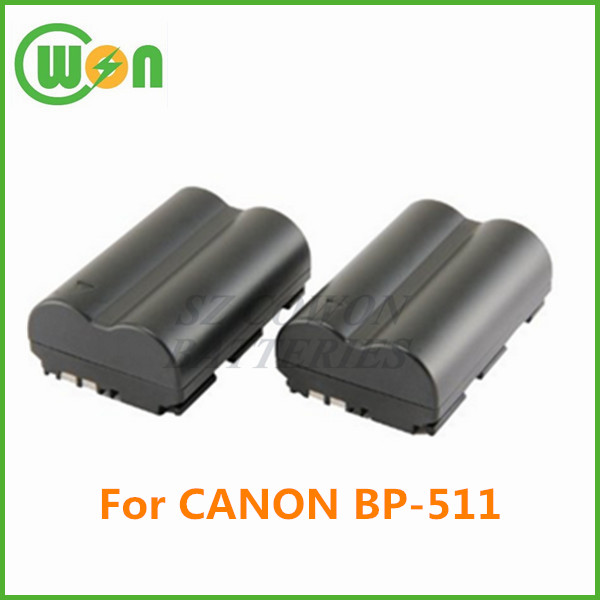 3.7V li-ion replacement battery for CANON BP-511 BP-511A EOS 5D 10D 20D 20Da 30D 40D 50D 300D D30 D60