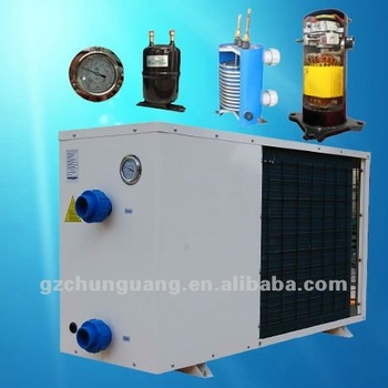 Eco friendly swimming pool heater for hot water r417c for Eco friendly heaters