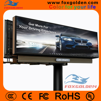 high definition P10 outdoor full color advertising p10 led display billboard for standing