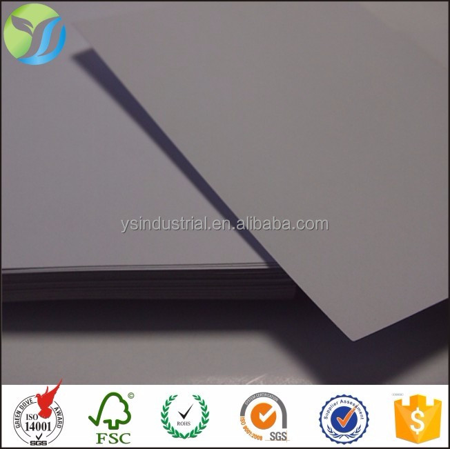 Indonesia 350gsm One Side White Coated Duplex Board Paper with Gray Back duplex board with grey back
