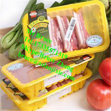 Plastic snack/lunch /toufu /chicken/juice/meat/box tray sealing machine
