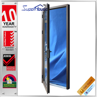 Australia 2016 design Commercial system double glass tempered glass office hinges door