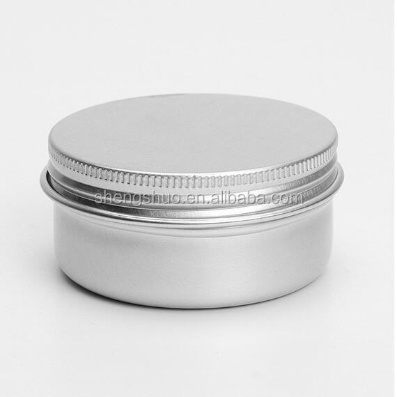 10pcs/lot 50ml Empty Aluminium Cosmetic Pot Lip Balm Jar Tin Containers Screw Lid for Cream Ointment Hand Cream Storage