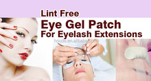 easy handling 7x3.3cm whitening Lint free under Eye Gel Patch / Pads for eyelash extension with OEM