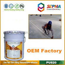 Without asphalt polyurethane caulking adhesive and sealer used for epoxy floors repair and maintenance