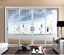 New design sliding doors with blinds between glass With AS2047 for Australia