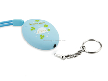 Factory Price Multi color Egg Shape Lady Personal Alarm with Belt for Handbag