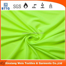 EN11612 EN471 high visibility yellow best quality cotton fire proof Knitted Fabric used for safety clothing