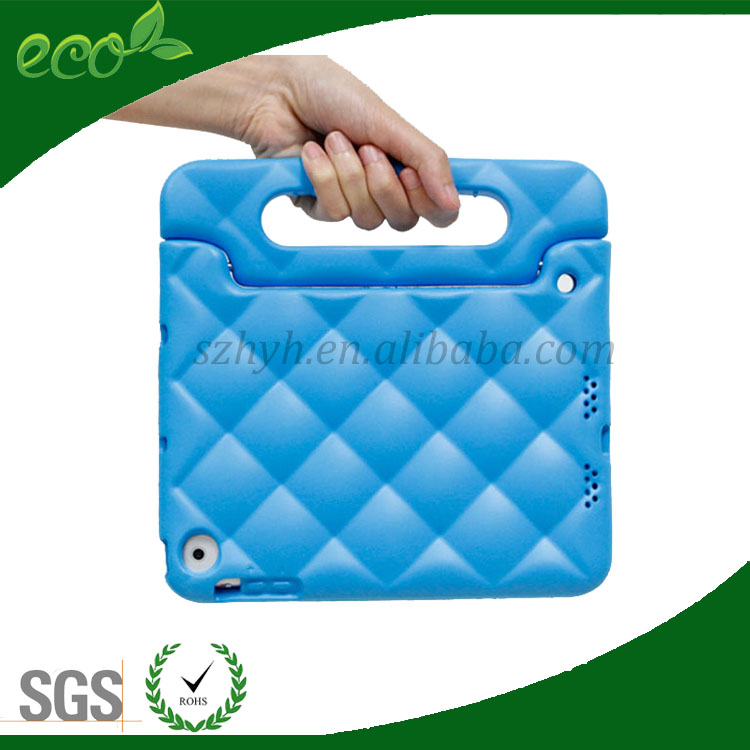 diamond pattern eco waterproof child proof rubber case EVA foam tablet pc case for ipad mini