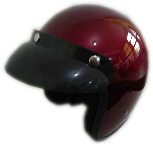 2017 hot sale wine red color half shell motorcycle helmets