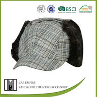 BSCI audit fashion cap and hat winter earflaps cap