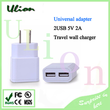 Dual USB 5V 2A Wall Charger Adapter USB Charger US Plug Travel Power 2 USB Port for iPhone 5s