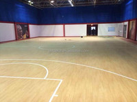 anti-slip wood pattern pvc basketball hall floor