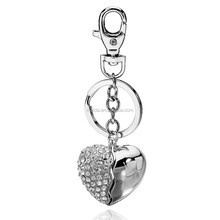 Promotion rhinestone keychain, new broken heart keyring charm pendent purse hanging key chain