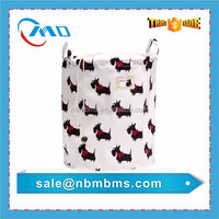 Bathroom Allover Printing 100% Cotton Canvas Laundry Bag