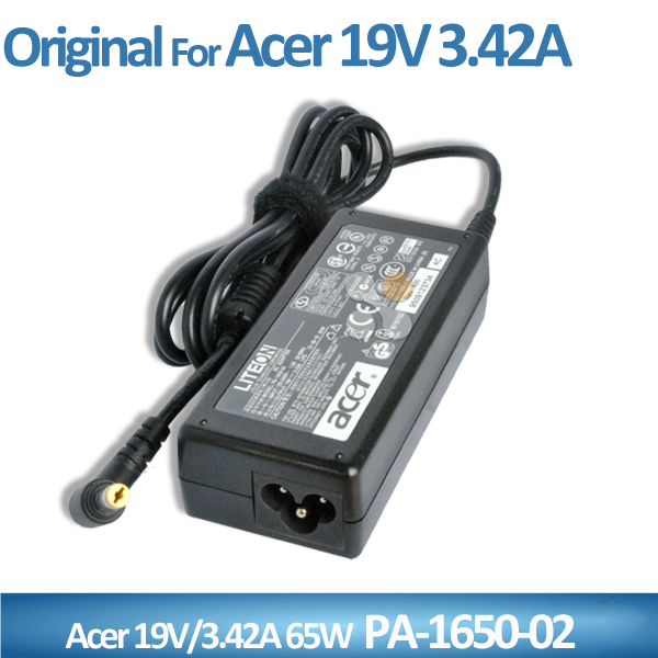 Original for Acer 4736Z-4037 4736-4037 65W laptop adaptor 19v 3.42A PA-1650-02