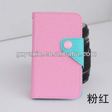 Dual Color Leather Case for Lenovo A706 with Holder,for lenovo a706 case