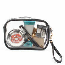 TSA Approved Clear Toiletry Bag with Zipper Travel Luggage Pouch Carry On Airline Clear Cosmetic Makeup Bag