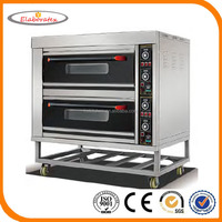 Commercial Stainless Steel Electric 2-Deck 4-tray Bread Baking Oven for Sale